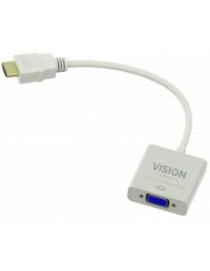 Vision TC-HDMIVGA cable gender changer HDMI VGA Valkoinen Vision TC-HDMIVGA - 1