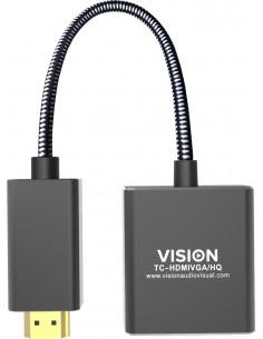 Vision TC-HDMIVGA/HQ videokaapeli-adapteri 0.23 m HDMI-tyyppi A (vakio) VGA (D-Sub) Musta Vision TC-HDMIVGA/HQ - 1