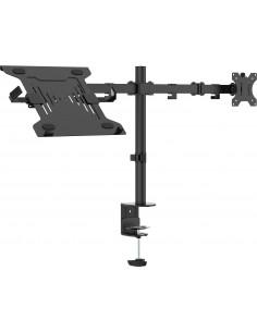 """Vision VFM-DPD2B+S Kannettavan tietokoneen teline 68.6 cm (27"""") ja näytön varsiteline Musta Vision VFM-DPD2B+S - 1"""