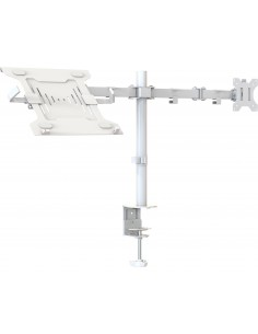 """Vision VFM-DPD2W+S Kannettavan tietokoneen teline 68.6 cm (27"""") ja näytön varsiteline Valkoinen Vision VFM-DPD2W+S - 1"""