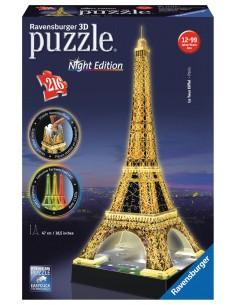 Ravensburger Eiffelturm bei Nacht 3D-pussel Ravensburger 12579 - 1