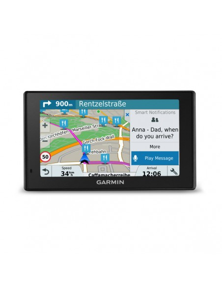 "Garmin DriveSmart 51 LMT-D navigatorer Fast 12.7 cm (5"") TFT Pekskärm 173.7 g Svart Garmin 010-01680-13 - 5"