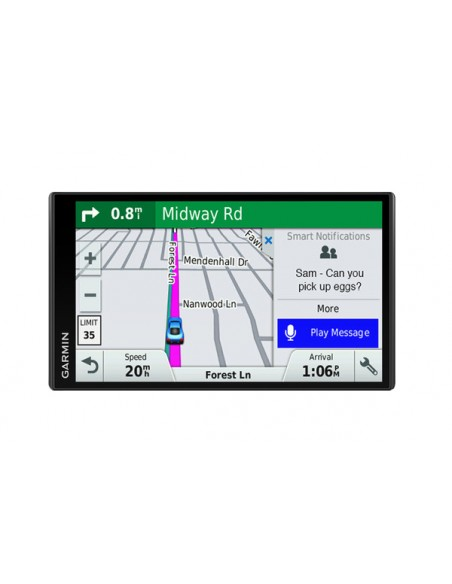"Garmin DriveSmart 61 LMT-S navigator Fixed 17.6 cm (6.95"") TFT Touchscreen 243 g Black Garmin 010-01681-12 - 1"