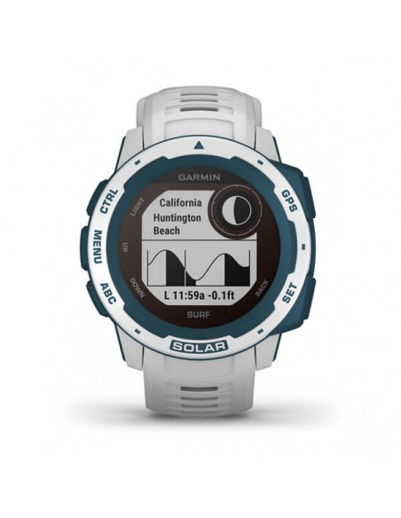 Garmin Instinct Solar – Surf Edition MIP Blue, White GPS (satellite) Garmin 010-02293-08 - 4