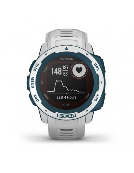 Garmin Instinct Solar – Surf Edition MIP Blue, White GPS (satellite) Garmin 010-02293-08 - 6