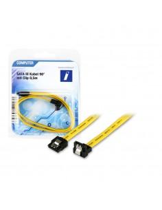 Innovation IT SATA III 0,5m 90° mit Clip   SATA-kaapeli 7-pin Musta, Keltainen Innovation It 2A 700542 COMPUTER - 1