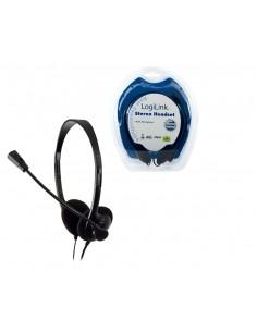 LogiLink Stereo Headset Earphones with Microphone Kuulokkeet Pääpanta Musta Logitech HS0001 - 1