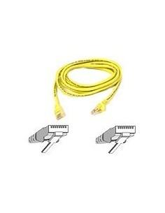 Belkin Patch cable - RJ-45(M) 2m ( CAT 5e ) 10/100Base-T yellow nätverkskablar Gul Belkin A3L791B02M-YLW - 1