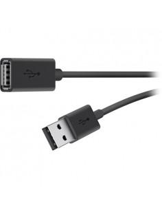 Belkin USB 2.0 A M/F 1.8m USB-kaapeli 1.8 m Musta Belkin F3U153BT1.8M - 1