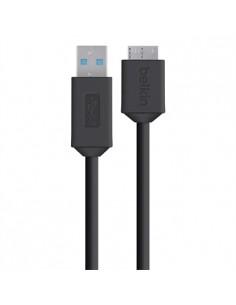 Belkin F3U166bt USB-kaapeli 1.8 m USB 3.2 Gen 1 (3.1 1) A Micro-USB B Musta Belkin F3U166BT1.8M - 1