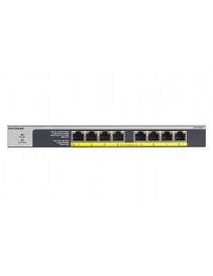 Netgear GS108LP Ohanterad Gigabit Ethernet (10/100/1000) Strömförsörjning via (PoE) stöd 1U Svart, Grå Netgear GS108LP-100EUS -