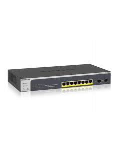 Netgear GS510TLP hanterad L2/L3/L4 Gigabit Ethernet (10/100/1000) Strömförsörjning via (PoE) stöd Svart Netgear GS510TLP-100EUS