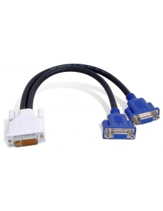 Matrox DVI-I - HD15 2 x VGA (D-Sub) Musta Matrox CAB-DVI-2XAF - 1
