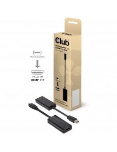 CLUB3D CAC-1170 cable gender changer Mini DisplayPort 1.2 HDMI 2.0 Svart Club 3d CAC-1170 - 1