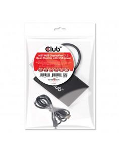 CLUB3D Multi Stream Transport Hub DisplayPort 1.2 Quad Monitor USB Powered Club 3d CSV-6400 - 1