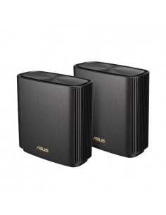 ASUS ZenWiFi AX (XT8) wireless router Gigabit Ethernet Tri-band (2.4 GHz / 5 GHz) Black Asustek 90IG0590-MO3G20 - 1