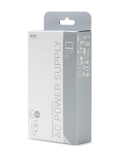 Acer AC Adapter 65W eladaptrar inomhus Svart Acer NP.ADT0A.036 - 3