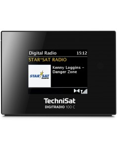 TechniSat Digitradio 100 C Clock Digital Black Technisat 0000/3921 - 1