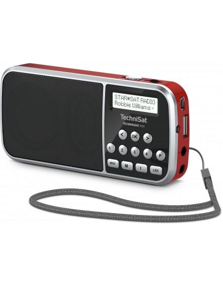 TechniSat 0000/3922 radioapparater Bärbar Digital Röd Technisat 0000/3922 - 3
