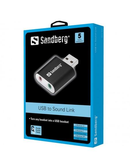Sandberg USB to Sound Link 2.0 kanavaa Sandberg 133-33 - 2