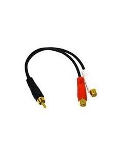 C2G Value Series RCA Plug to Jack x2 Y-Cable x 2 Svart C2g 80139 - 1