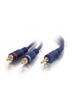 C2G 2m Velocity 3.5mm Stereo Male to Dual RCA Y-Cable audio cable 2 x Black C2g 80274 - 1