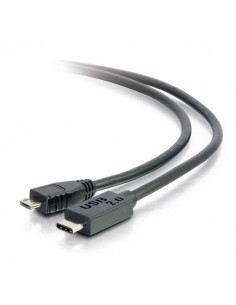 C2G USB 2.0, C - Micro B, 4m USB-kablar Micro-USB B Svart C2g 88853 - 1