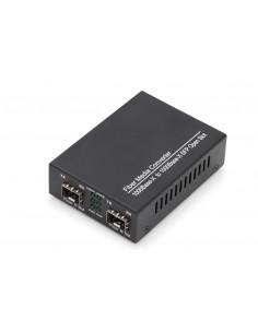 Digitus DN-82133 mediakonverterare för nätverk 1000 Mbit/s 1550 nm Flerläge, Enkelläge Svart Assmann DN-82133 - 1
