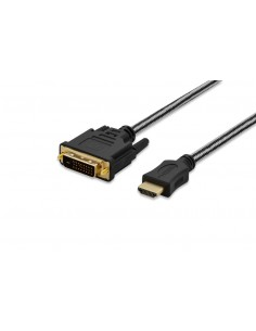 Ednet 84486 video cable adapter 3 m HDMI DVI-D Black Ednet 84486 - 1