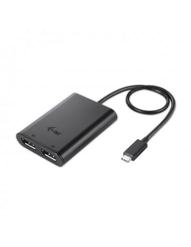 i-tec C31DUAL4KDP USB grafiikka-adapteri 3840 x 2160 pikseliä Musta I-tec Accessories C31DUAL4KDP - 1
