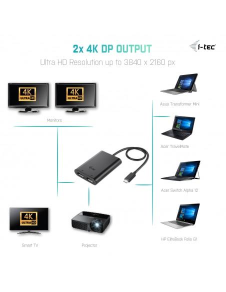 i-tec C31DUAL4KDP USB grafiikka-adapteri 3840 x 2160 pikseliä Musta I-tec Accessories C31DUAL4KDP - 5