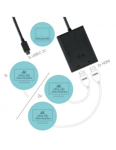 i-tec C31DUAL4KHDMI USB grafiikka-adapteri 3840 x 2160 pikseliä Musta I-tec Accessories C31DUAL4KHDMI - 5