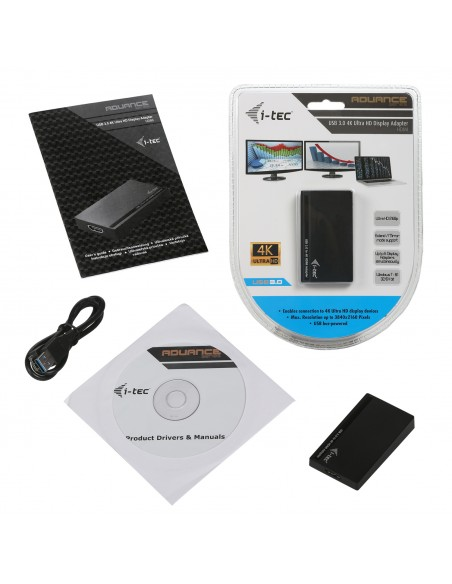 i-tec Advance U3HDMI4K USB grafiikka-adapteri 3840 x 2160 pikseliä Musta I-tec Accessories U3HDMI4K - 4