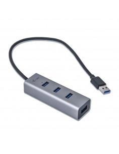 i-tec Metal U3HUBMETAL403 gränssnittshubbar USB 3.2 Gen 1 (3.1 1) Type-A 5000 Mbit/s Grå I-tec Accessories U3HUBMETAL403 - 1