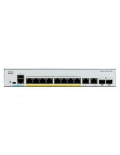Cisco Catalyst C1000-8P-E-2G-L nätverksswitchar hanterad L2 Gigabit Ethernet (10/100/1000) Strömförsörjning via (PoE) stöd Grå C