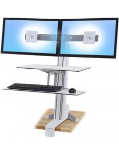 Ergotron WorkFit-S White PC Multimedia stand Ergotron 33-349-211 - 1