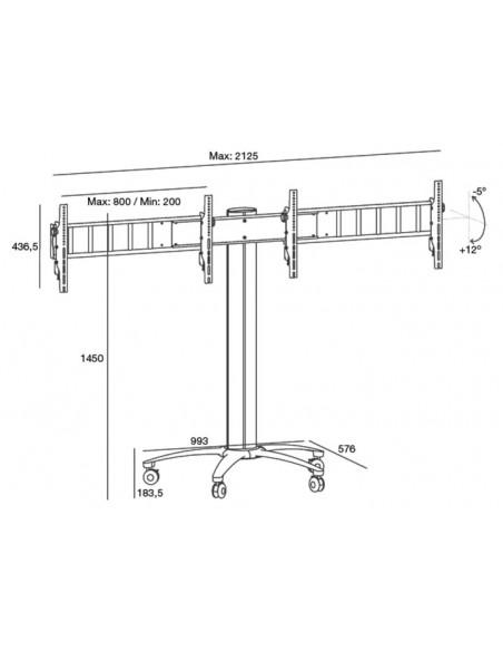 """Multibrackets 5392 kyltin näyttökiinnike 132.1 cm (52"""") Hopea Multibrackets 7350022735392 - 9"""