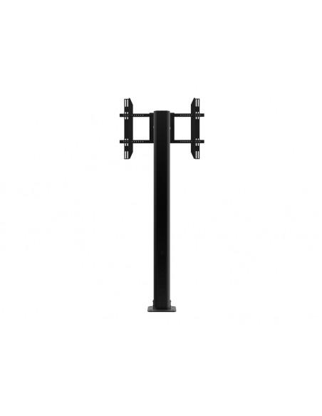 Multibrackets M Public Display Stand Pillar 210 Black, incl. 220V Power Rail Multibrackets 7350022736368 - 5