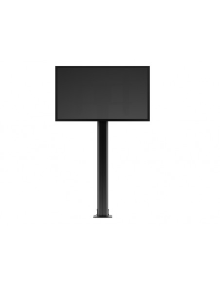 Multibrackets M Public Display Stand Pillar 210 Black, incl. 220V Power Rail Multibrackets 7350022736368 - 7