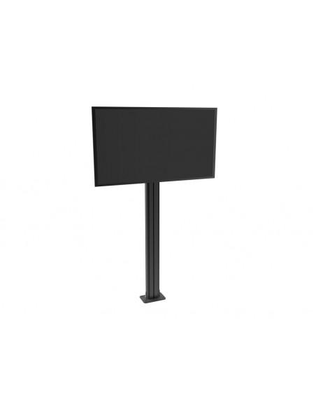 Multibrackets M Public Display Stand Pillar 210 Black, incl. 220V Power Rail Multibrackets 7350022736368 - 9