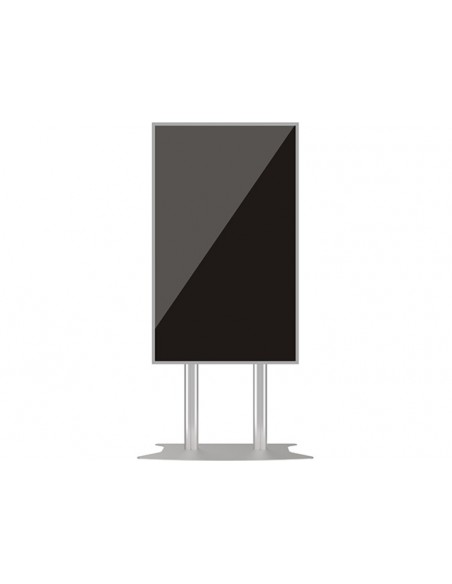 Multibrackets M Public Display Stand 210 Dual Pillar Floorbase Silver Multibrackets 7350073732562 - 7