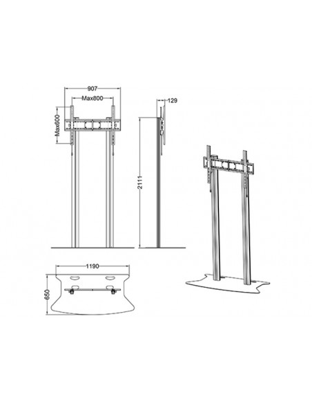 Multibrackets M Public Display Stand 210 Dual Pillar Floorbase Silver Multibrackets 7350073732562 - 9