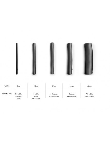 Multibrackets M Universal Cable Sock Self Wrapping 40mm Black 25m Multibrackets 7350073732821 - 4