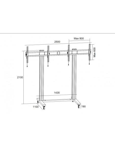 "Multibrackets M Public Display Stand 210 Dual Screen 50""-77"" Black Multibrackets 7350073733019 - 7"