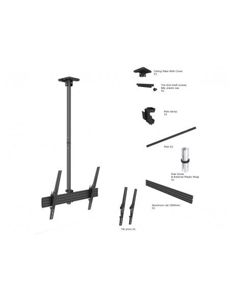 """Multibrackets 5778 fäste för skyltningsskärm 190.5 cm (75"""") Svart Multibrackets 7350073735778 - 6"""