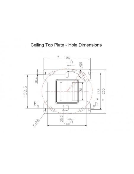 Multibrackets M Ceiling Mount Pro MBC1UHD Multibrackets 7350073735778 - 10
