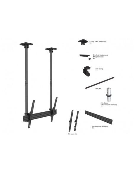 """Multibrackets 5785 kyltin näyttökiinnike 2.54 m (100"""") Musta Multibrackets 7350073735785 - 6"""