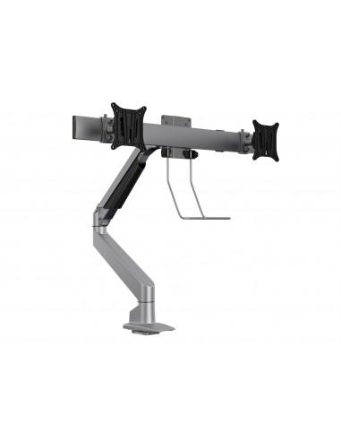 Multibrackets M VESA Gas Lift Arm Single Silver w. Duo Crossbar Multibrackets 7350073735938 - 1