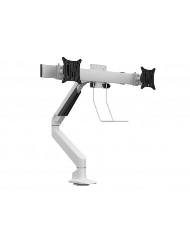 Multibrackets M VESA Gas Lift Arm Single White w. Duo Crossbar Multibrackets 7350073735945 - 1