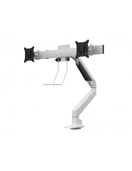 Multibrackets M VESA Gas Lift Arm Single White w. Duo Crossbar Multibrackets 7350073735945 - 3